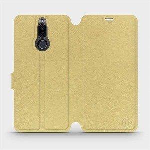 Parádní flip pouzdro Mobiwear na mobil Huawei Mate 10 Lite v provedení C_GOS Gold&Gray s šedým vnitřkem