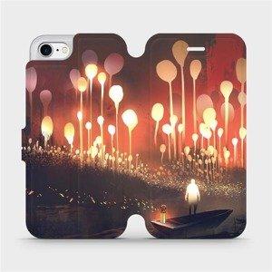 Flipové pouzdro Mobiwear na mobil Apple iPhone 8 - VA01S Lampiony a muž v lodičce