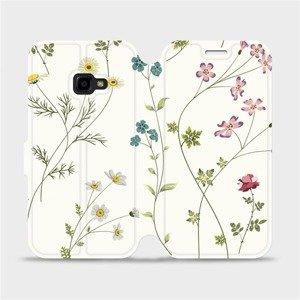 Flipové pouzdro Mobiwear na mobil Samsung Xcover 4 - MD03S Tenké rostlinky s květy