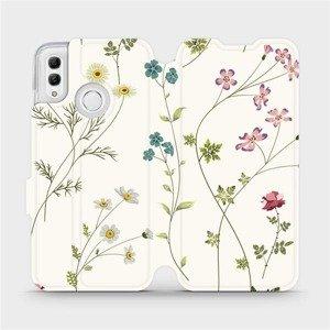 Flipové pouzdro Mobiwear na mobil Honor 10 Lite - MD03S Tenké rostlinky s květy