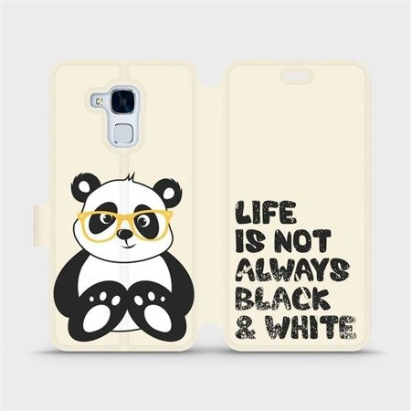 Flipové pouzdro Mobiwear na mobil Honor 7 Lite - M041S Panda - life is not always black and white
