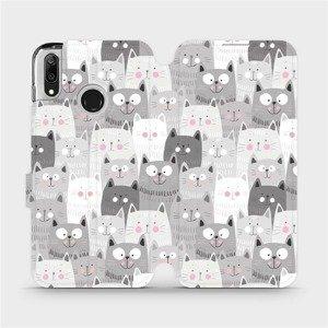 Flipové pouzdro Mobiwear na mobil Huawei Y7 2019 - M099P Kočičky