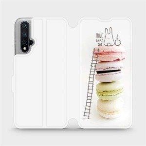 Flipové pouzdro Mobiwear na mobil Honor 20 - M090P Makronky - have a nice day