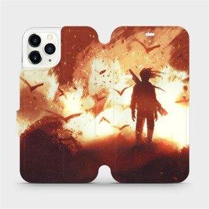Flipové pouzdro Mobiwear na mobil Apple iPhone 11 Pro - MA06S Postava v ohni