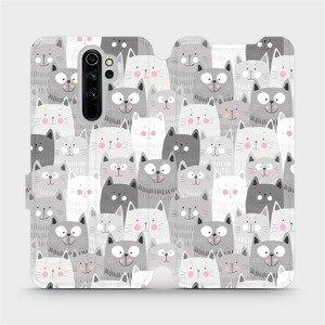 Flipové pouzdro Mobiwear na mobil Xiaomi Redmi Note 8 Pro - M099P Kočičky