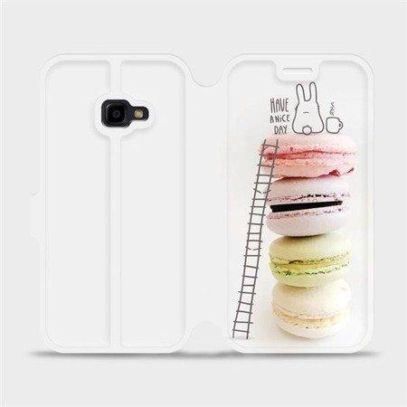 Flipové pouzdro Mobiwear na mobil Samsung Xcover 4 - M090P Makronky - have a nice day