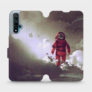 Flipové pouzdro Mobiwear na mobil Huawei Nova 5T - MA07S Týpek ve skafandru