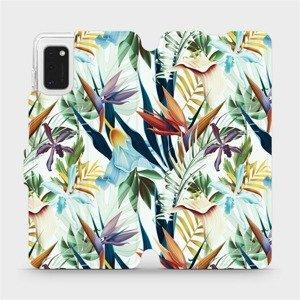 Flipové pouzdro Mobiwear na mobil Samsung Galaxy A41 - M071P Flóra
