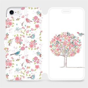 Flipové pouzdro Mobiwear na mobil Apple iPhone SE 2020 - M120S Strom a ptáčci