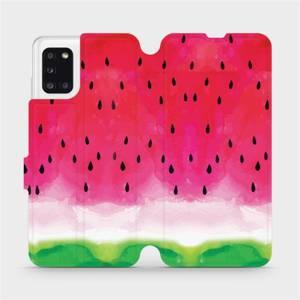 Flipové pouzdro Mobiwear na mobil Samsung Galaxy A31 - V086S Melounek