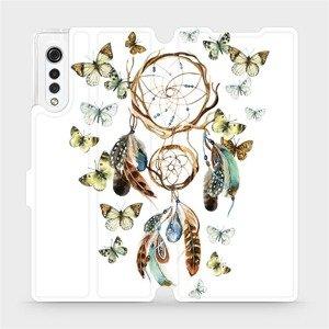 Flipové pouzdro Mobiwear na mobil LG Velvet - M001P Lapač a motýlci
