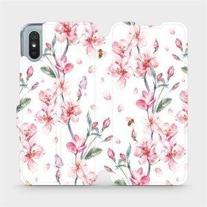 Flipové pouzdro Mobiwear na mobil Xiaomi Redmi 9A - M124S Růžové květy