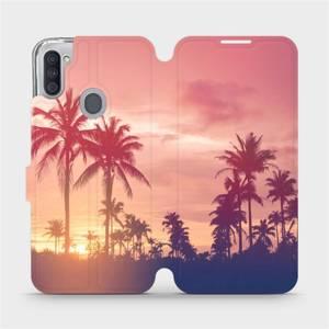 Flipové pouzdro Mobiwear na mobil Samsung Galaxy M11 - M134P Palmy a růžová obloha