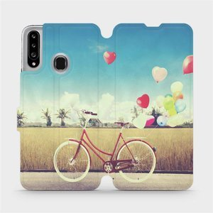 Flipové pouzdro Mobiwear na mobil Samsung Galaxy A20S - M133P Kolo a balónky