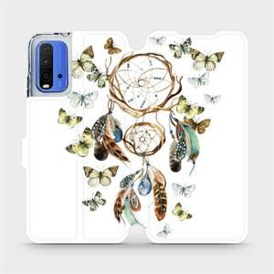 Flipové pouzdro Mobiwear na mobil Xiaomi Redmi 9T - M001P Lapač a motýlci