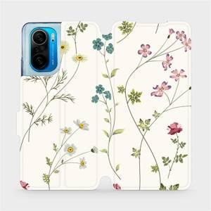 Flipové pouzdro Mobiwear na mobil Xiaomi Mi 11i / Xiaomi Poco F3 - MD03S Tenké rostlinky s květy