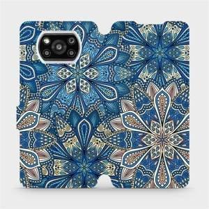 Flipové pouzdro Mobiwear na mobil Xiaomi Poco X3 Pro - V108P Modré mandala květy