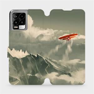 Flip pouzdro Mobiwear na mobil Realme 8 - MA03P Oranžové letadlo v horách