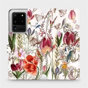 Flip pouzdro Mobiwear na mobil Samsung Galaxy S20 Ultra - MP01S Rozkvetlá louka