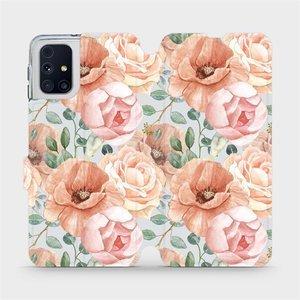 Flip pouzdro Mobiwear na mobil Samsung Galaxy M31s - MP02S Pastelové květy
