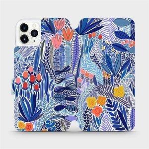 Flip pouzdro Mobiwear na mobil Apple iPhone 11 Pro Max - MP03P Modrá květena