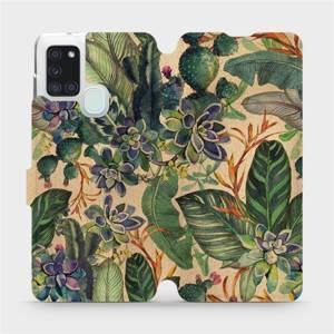 Flip pouzdro Mobiwear na mobil Samsung Galaxy A21S - VP05S Sukulenty