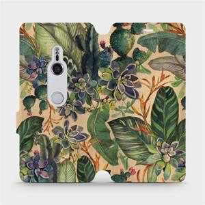 Flip pouzdro Mobiwear na mobil Sony Xperia XZ3 - VP05S Sukulenty