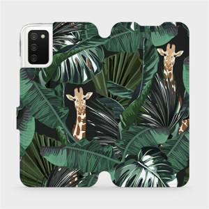 Flip pouzdro Mobiwear na mobil Samsung Galaxy A02S - VP06P Žirafky