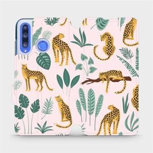 Flip pouzdro Mobiwear na mobil Honor 20 Lite - MP07S Leopardi