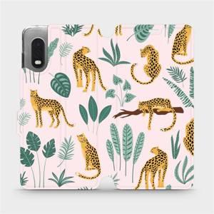 Flip pouzdro Mobiwear na mobil Samsung Galaxy Xcover Pro - MP07S Leopardi
