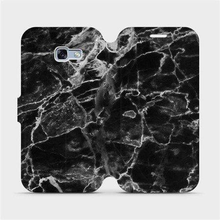 Flipové pouzdro Mobiwear na mobil Samsung Galaxy A3 2017 - V056P Černý mramor