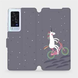 Flip pouzdro Mobiwear na mobil Vivo X60 Pro 5G - V024P Jednorožec na kole