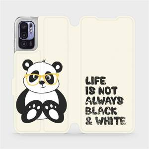 Flip pouzdro Mobiwear na mobil Xiaomi Redmi Note 10 5G - M041S Panda - life is not always black and white