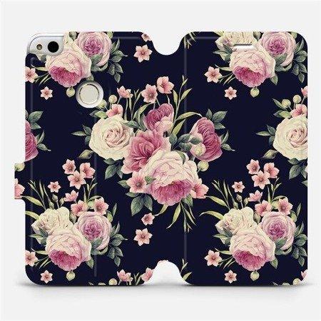 Flipové pouzdro Mobiwear na mobil Huawei P9 Lite 2017 - V068P Růžičky