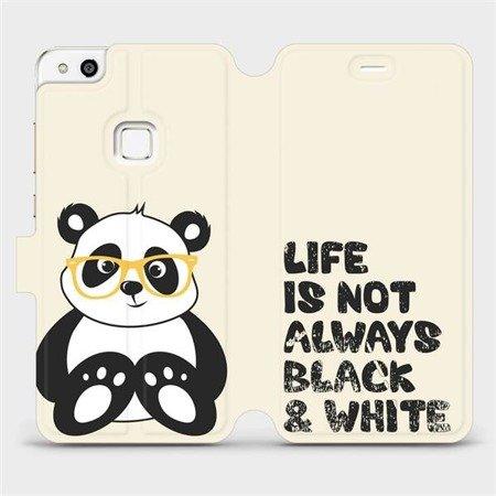Flipové pouzdro Mobiwear na mobil Huawei P10 Lite - M041S Panda - life is not always black and white