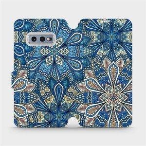 Flipové pouzdro Mobiwear na mobil Samsung Galaxy S10e - V108P Modré mandala květy
