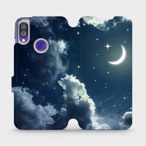 Flipové pouzdro Mobiwear na mobil Xiaomi Redmi Note 7 - V145P Noční obloha s měsícem - výprodej
