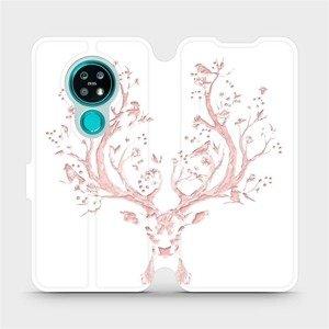 Flipové pouzdro Mobiwear na mobil Nokia 7.2 - M007S Růžový jelínek