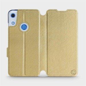 Flipové pouzdro Mobiwear na mobil Huawei Y6S v provedení C_GOP Gold&Orange s oranžovým vnitřkem