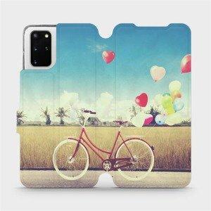 Flipové pouzdro Mobiwear na mobil Samsung Galaxy S20 Plus - M133P Kolo a balónky