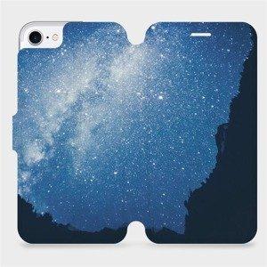 Flipové pouzdro Mobiwear na mobil Apple iPhone SE 2020 - M146P Galaxie