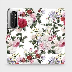 Flipové pouzdro Mobiwear na mobil Xiaomi Mi Note 10 Lite - MD01S Růže na bílé