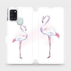 Flipové pouzdro Mobiwear na mobil Samsung Galaxy A21S - M005S Plameňáci