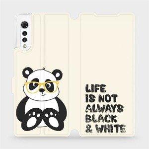 Flipové pouzdro Mobiwear na mobil LG Velvet - M041S Panda - life is not always black and white