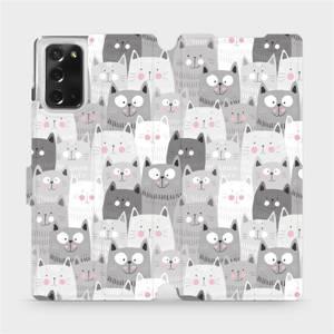 Flipové pouzdro Mobiwear na mobil Samsung Galaxy Note 20 - M099P Kočičky