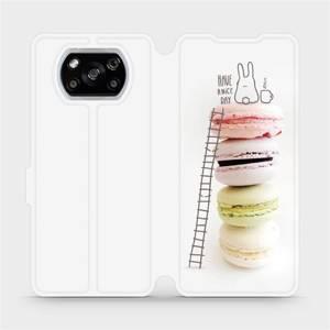 Flipové pouzdro Mobiwear na mobil Xiaomi POCO X3 NFC - M090P Makronky - have a nice day
