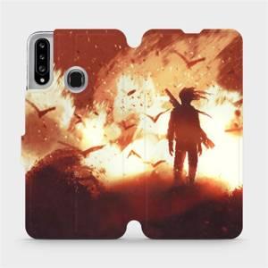 Flipové pouzdro Mobiwear na mobil Samsung Galaxy A20S - MA06S Postava v ohni