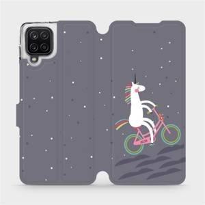 Flipové pouzdro Mobiwear na mobil Samsung Galaxy A12 - V024P Jednorožec na kole