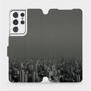 Flipové pouzdro Mobiwear na mobil Samsung Galaxy S21 Ultra 5G - V063P Město v šedém hávu