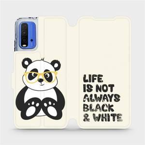 Flipové pouzdro Mobiwear na mobil Xiaomi Redmi 9T - M041S Panda - life is not always black and white